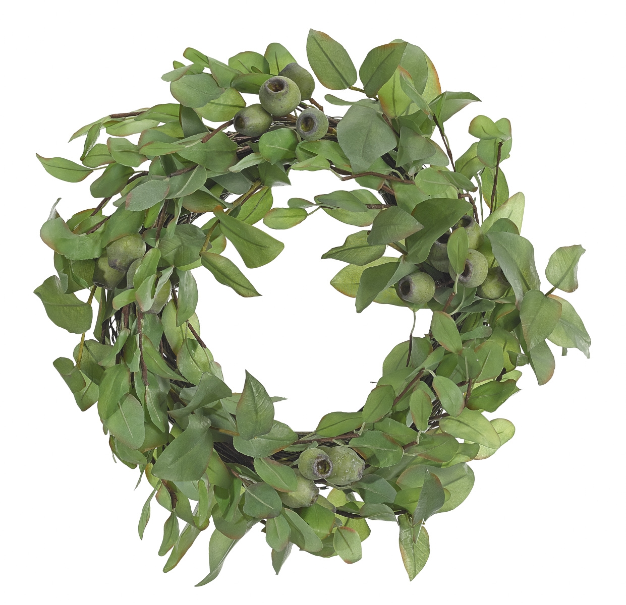 Eucalyptus Wreath, Green Burgundy, 19""