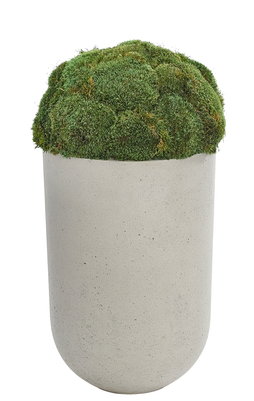 Moss Mound, Planter Concrete Finish, 14wx14dx28h