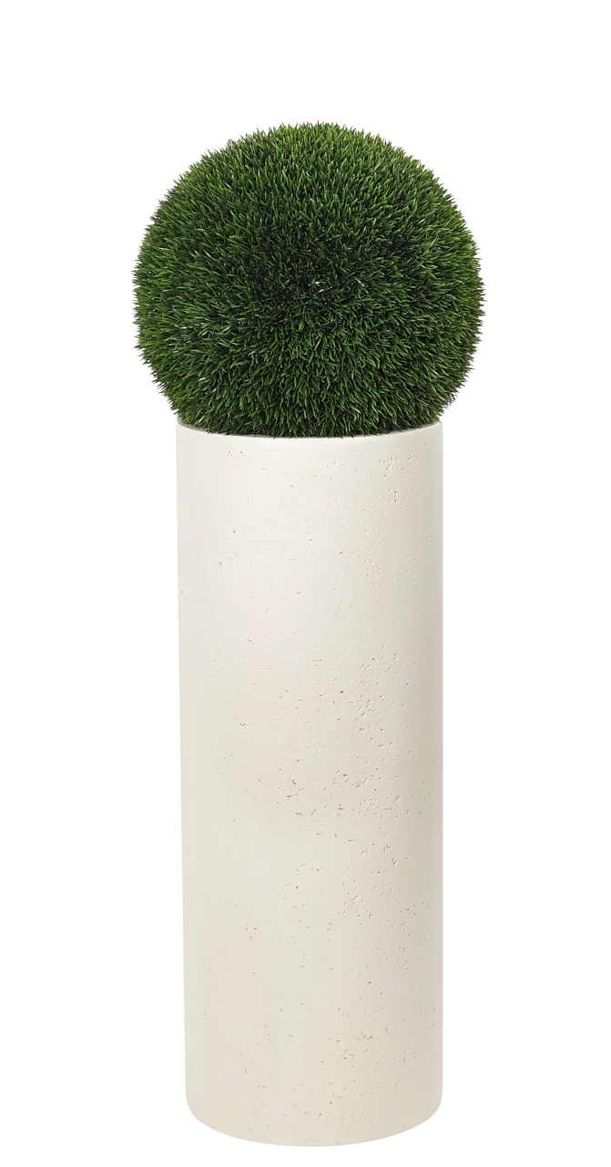 UV rated and suitable for outdoor use! | Grass Ball, Tall Planter Resin, 14wx45h