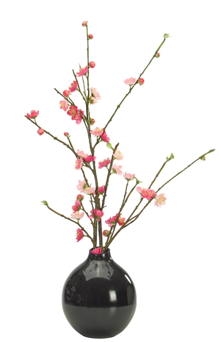 Cherry Blossom, Pink, Glass Bubble Black, 14wx14dx24h