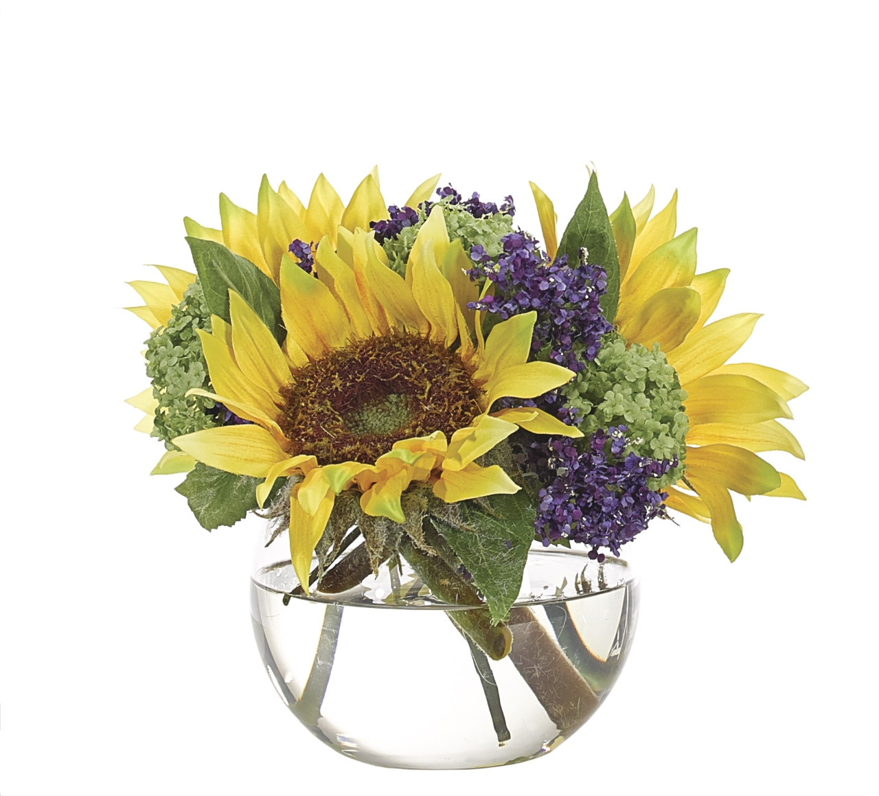 Sunflower flower watergarden yellow purple glass bubble vase sunflower flower watergarden yellow purple glass bubble vase single ndi faux floral mightylinksfo