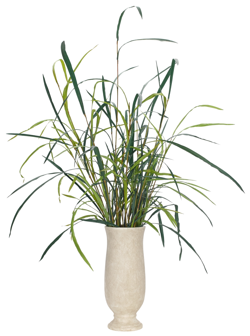 Marsh Grass, Pottery Planter Antique White, 40wx34dx53h