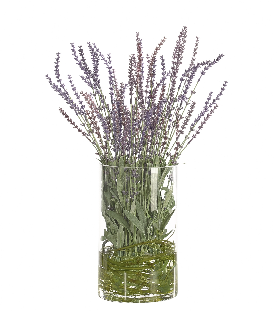 Lavender, Lavender Purple, Glass Cylinder, 14wx14dx20h